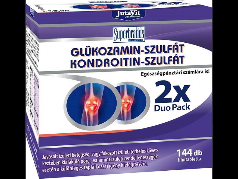 Reuma, ízületi problémák : Glükozamin-szulfát + Kondroitin-szulfát + MSM 72 db, JutaVit